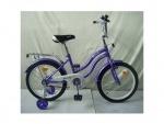 """Двухколёсный велосипед PROF1 STAR 18"""", фиолетовый"""