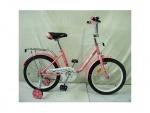 """Велосипед детский двухколесный 18"""" Flower, розовый"""
