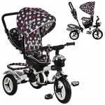 Велосипед детский Turbo Trike, розовые круги