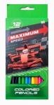 """Карандаши 12 цветов """"Maximum speed"""""""