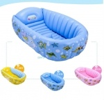 Надувная ванночка для купания ребенка с насосом