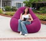 Надувное кресло Интекс Deluxe Velvet Chair