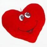 "Подушка мягкая ""Сердце"" девочка, 36см"
