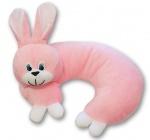 """Подушка рожокм мягкая """"Заяц"""" розовый, 30см"""