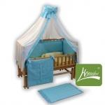 """Комплект постельного белья в детскую кроватку, """"Радуга"""" ранфос-голубой"""