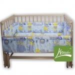 """Комплект постельного белья в детскую кроватку """"Кроха"""", голубой"""