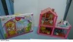 Кукольный дом с куклами