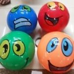 """Мяч детский 9"""" со смайлами"""