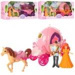 Карета игрушечная с лошадью