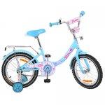 """Велосипед детский PROF1 14"""" Princess, голубой"""