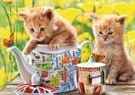"""Касторленд пазлы """"Время чаепития (котята)"""""""
