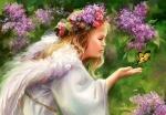 "Касторленд пазлы ""Ангел и бабочка"""