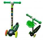 Самокат детский 3-х колесный с цветными колесами