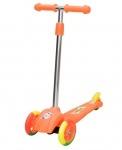 Самокат детский 3-х колесный с цветными колёсами