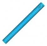 Линейка пластиковая 30см голубая
