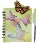 """Блокноты на спирали с ручкой """"Бабочки, Цветы"""""""