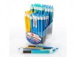 Ручка шариковая автоматическая синяя, (блок)