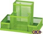 Металлическая подставка для канцелярских принадлежностей зеленая