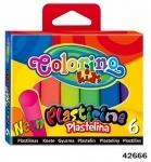 Пластилин детский 6 цветов NEON