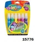 """Ручка """"JUMBO"""" с кисточкой наполненная краской 6 цветов"""