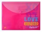 """Папка-конверт на кнопке А4 """"Oxford"""" розовый"""