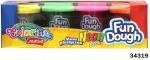 Набор массы для лепки Neon, 4 цвета
