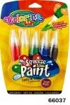 """Ручка """"JUMBO"""" с кисточкой наполненная краской, 5 цветов"""