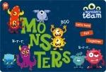 """Подложка для стола детская """"Monsters"""""""