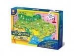 """Карта - пазл """"Мандруємо Україною+книжка"""""""