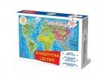 """Карта - пазл """"Мандруємо Світом+книжка"""""""
