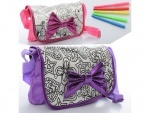 Детская сумка-раскраска с бантиком