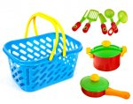 Детская Посуда в корзинке - игровой набор