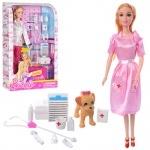 Кукла с набор доктора и собачкой