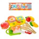 Игрушечный набор продуктов на липучке с плитой