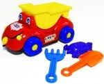 Машинка для песка Каталка Собачка + набор