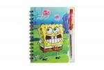 """Блокнот на спирале, А6, """"Sponge bob"""", с ручкой"""