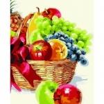 Творчество: Картина по номерам - Корзинка фруктов