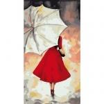 Творчество: Картина по номерам - Под белым зонтиком
