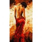 Творчество: Картина по номерам - Дама в красном