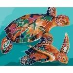 Творчество: Картина по номерам - Черепахи
