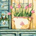 Творчество: Картина по номерам - Розовые тюльпаны