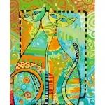 Творчество: Картина по номерам - Пара котов (БЕЗ КОРОБКИ)