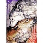 Творчество: Картина по номерам - Пара волков 3 (БЕЗ КОРОБКИ)