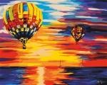 Творчество: Картина по номерам - Небо (БЕЗ КОРОБКИ)