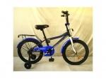"""Велосипед детский двухколесный Top Grade 18"""", черный матовый"""