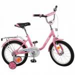 """Велосипед детский двухколесный Flower 14"""", розовый"""