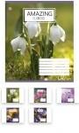 Тетрадь в клеточку А5/48 Amazing Flowers