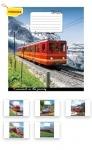 Тетрадь в линию А5/36 Trains&Nature