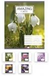 Тетрадь в линию А5/60 Amazing Flowers