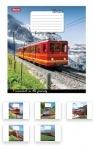 Тетрадь в клеточку А5/60 Trains&Nature